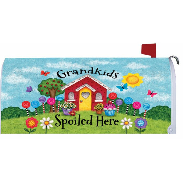Grandkids Spoiled Here Mailbox Makeover