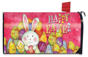 Happy Easter Eggs Mailbox Cover