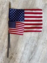 "4x6"" USA Stick Flag"