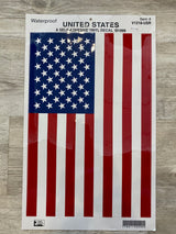 "12""x18"" US RIGHT HAND FLAG DECAL"