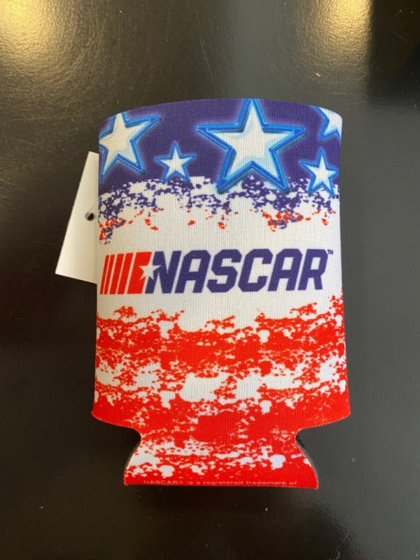 NASCAR PATRIOTIC CAN COOLER KOOZIE