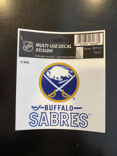 "BUFFALO SABRES DECAL 3""x4"" REMOVABLE"