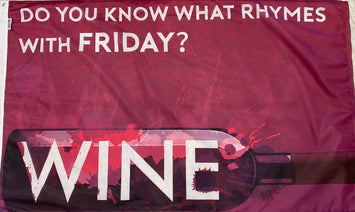 3X5' FRIDAY WINE POLYESTER FLAG