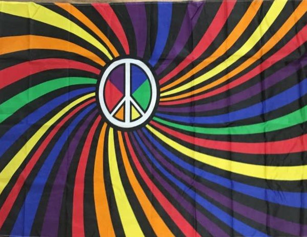 Rainbow Peace Polyester Flag
