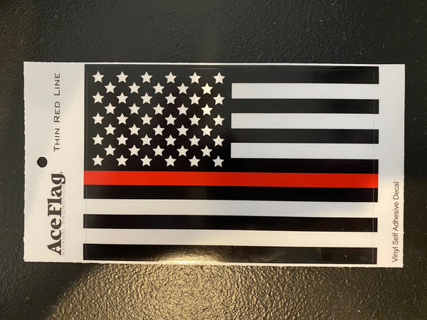 THIN RED LINE VINYL DECAL
