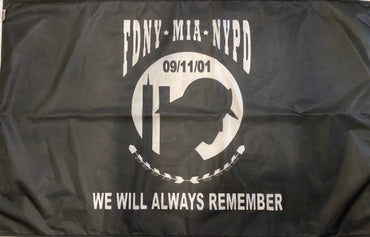 3'X5' 9/11 RESPONDER MIA REMEMBRANCE POLYESTER FLAG