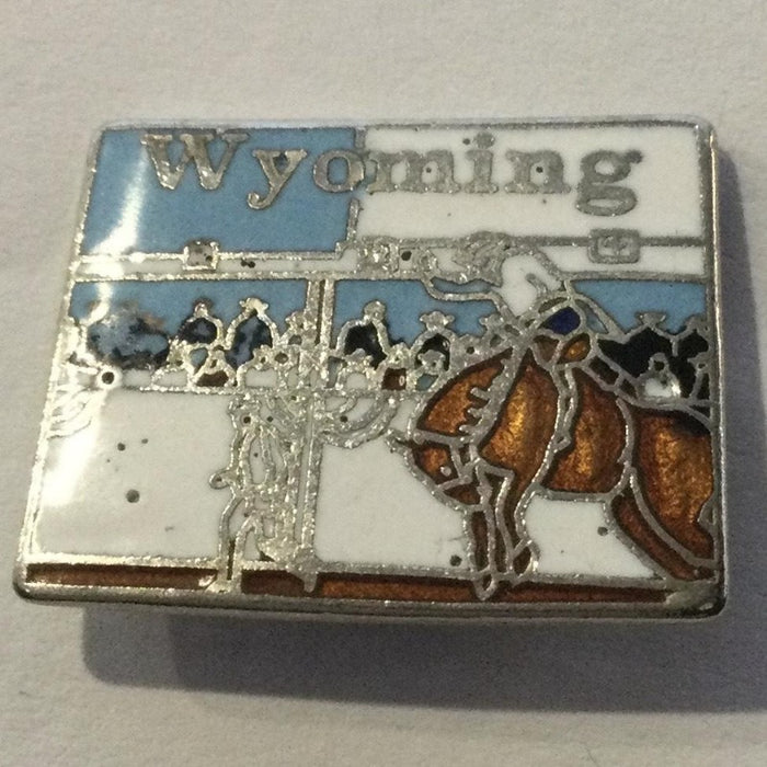 Wyoming Shaped Lapel Pin