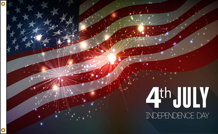 3X5 FT JULY 4TH SPARKLERS FLAG