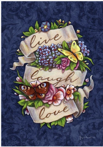 LIVE LAUGH LOVE GARDEN FLAG