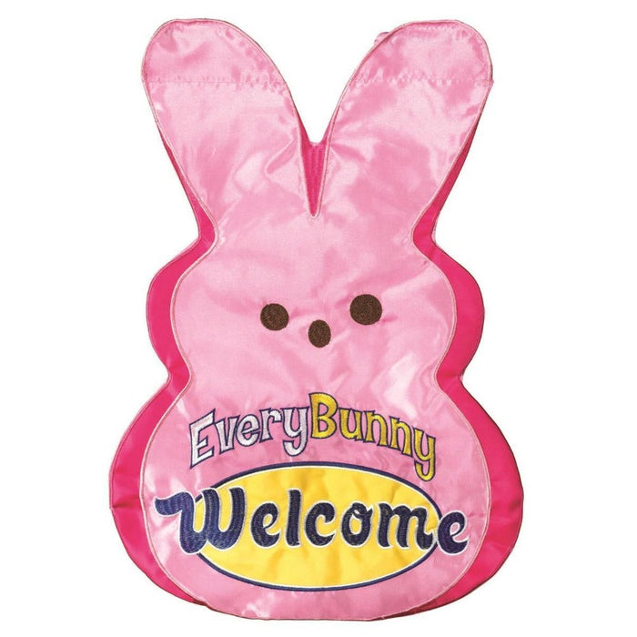 pink rabbit peep with text saying
