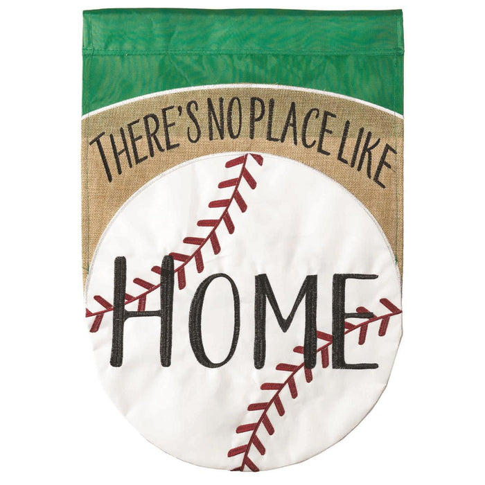 No Place Like Home Burlap Garden Flag