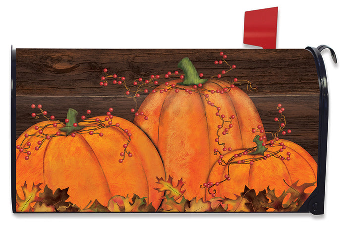 RUSTIC PUMPKIN PATCH MAILBOX COVER