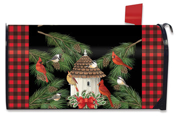 HOLIDAY BIRD GATHERING MAILBOX COVER