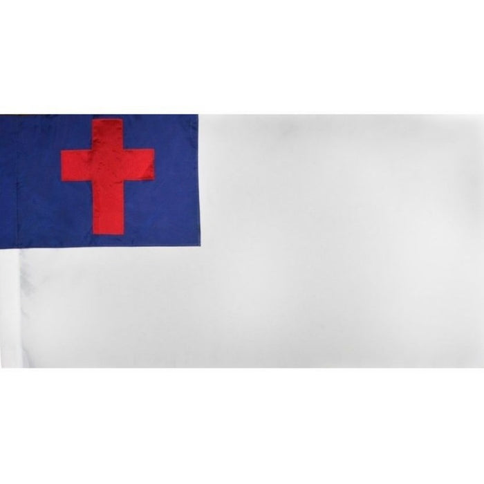 3'x5' CHRISTIAN INDOOR FLAG (APPLIQUE) - NO FRINGE