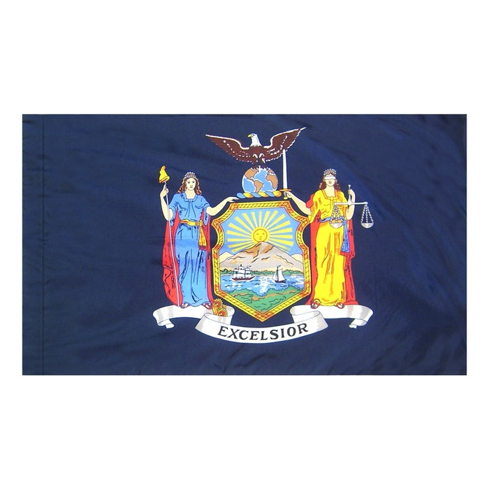 New York State Indoor Flag - No Fringe