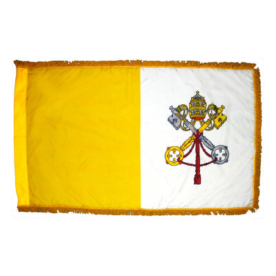 Papal Indoor Flag - Fringe