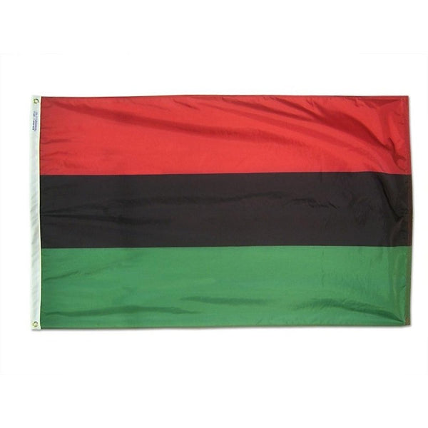 red, black, and green horizontal striped flag