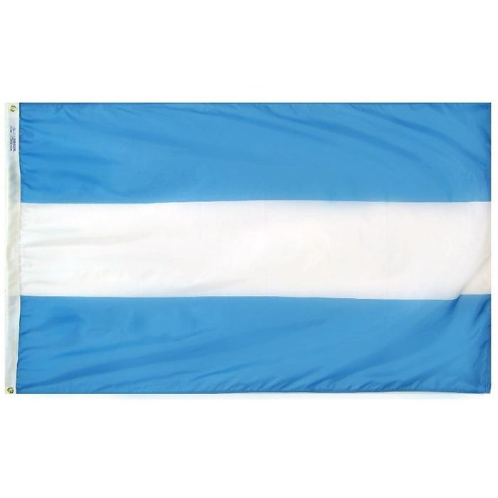 blue and white horizontal striped flag