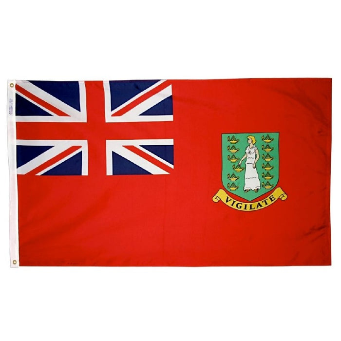 British Virgin Islands (Red) Nylon Flag