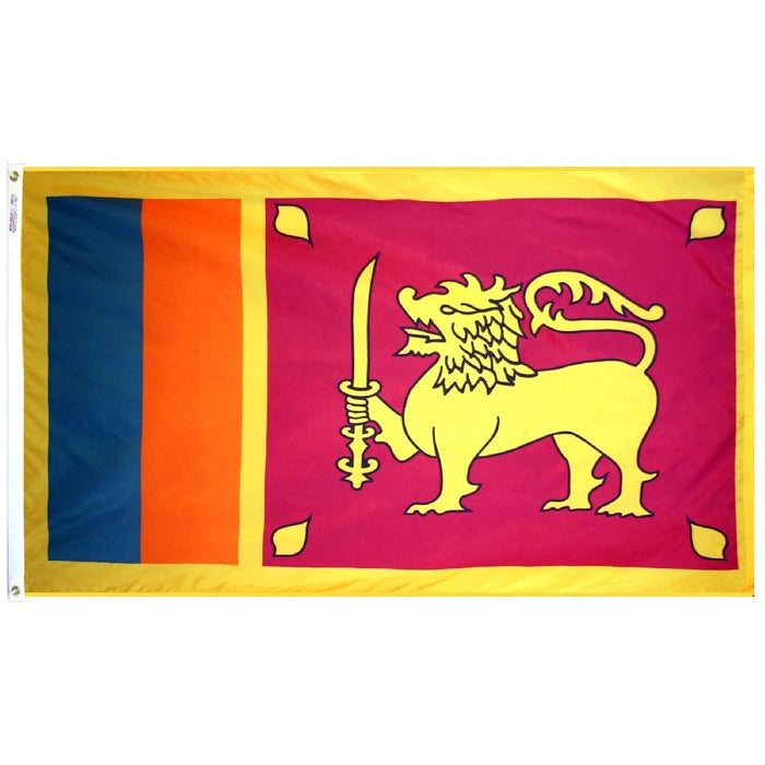 Sri Lanka Nylon Flag