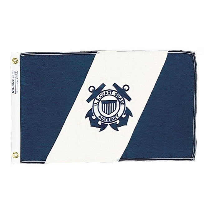 12X18 INCH NYLON US COAST GUARD AUXILIARY FLAG