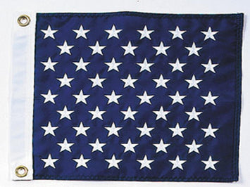 BLUE FLAG WITH EMBROIDERED WHITE STARS