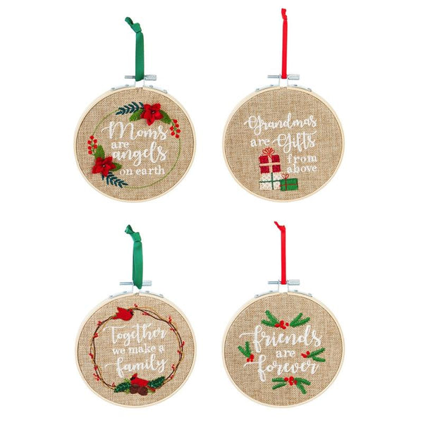 Christmas Ornaments - Needpoint Frames