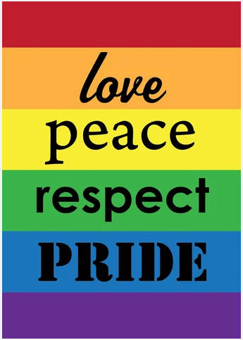 PRIDE DOUBLE-SIDED DECORATIVE FLAGS