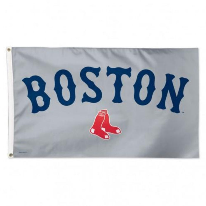3'X5' BOSTON RED SOX GRAY BACKGROUND