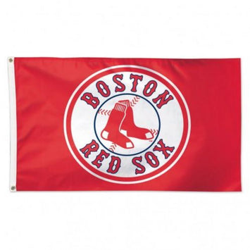 3x5 FT MLB BOSTON RED SOX RED BACKGROUND