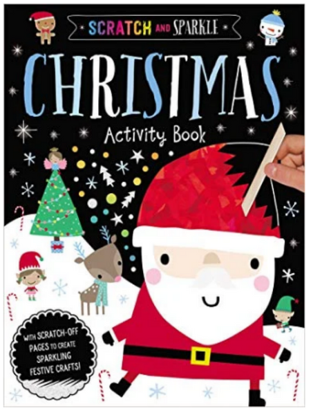 BOOK COVER SHOWING A DEMONSTRATION OF SCRATCHING OFF SANTA'S HAT