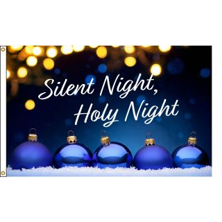 Silent night holiday Christmas 3x5 foot flag