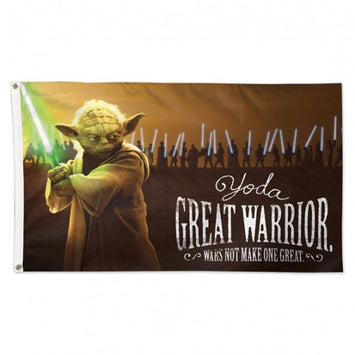 3X5 FT DISNEY STAR WARS YODA GREAT WARRIOR
