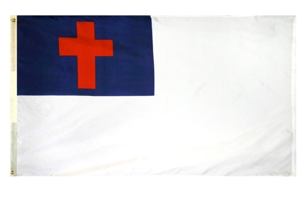 3X5 FT NYLON CHRISTIAN DYED FLAG