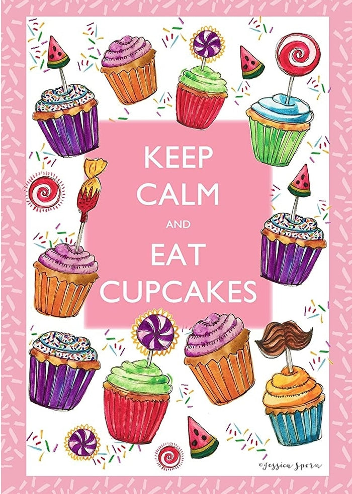 KEEP CALM AND EAT CUPCAKES DECORATIVE FLAGS