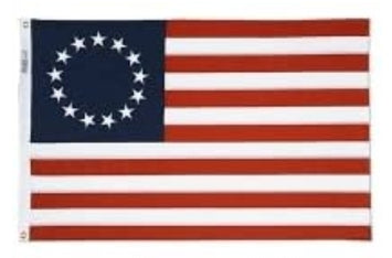 3X5' NYL-GLO BETSY ROSS DYED FLAG