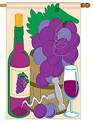 GRAPE WINE BANNER FLAG