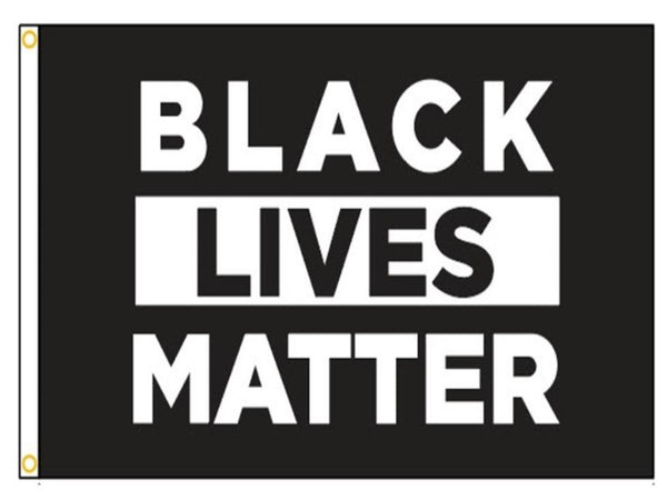 3x5FT NYL-GLO BLACK LIVES MATTER FLAG