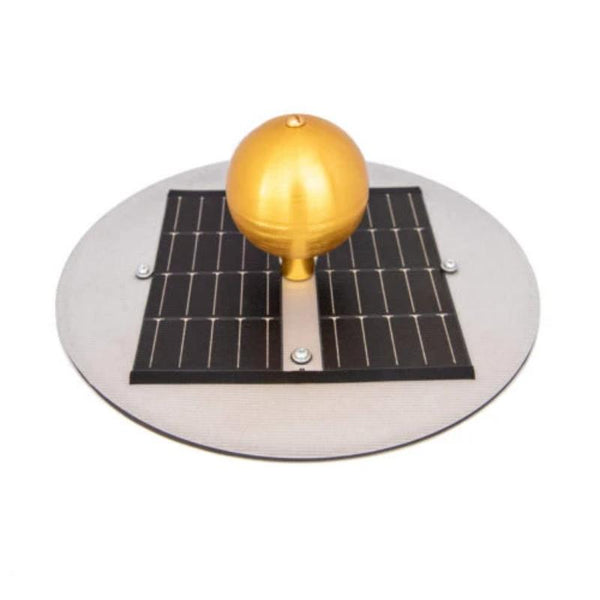 Residential flagpole solar light Made in the USA Includes LED lighting using rechargeable batteries