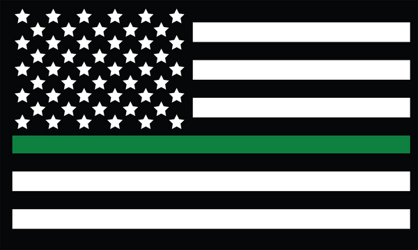 3'x5' Thin Green Line US Nylon Flag