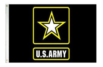 3X5 FT NYLON US ARMY LOGO FLAG