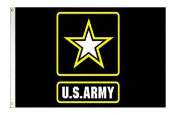 3X5 FT NYL-GLO US ARMY LOGO FLAG