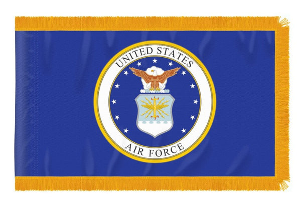 3X5 FOOT NYLON INDOOR US AIR FORCE FLAG FRINGE