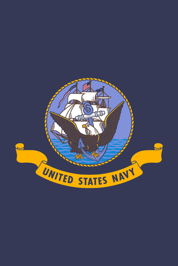Seal of the US Navy Garden Flag