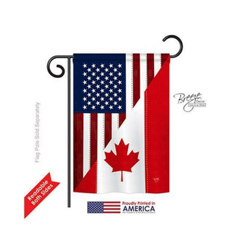 US CANADA FRIENDSHIP DECORATIVE FLAGS