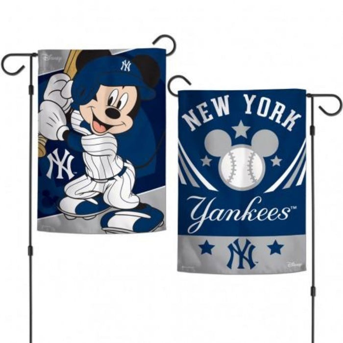 NEW YORK YANKEES DISNEY MICKEY MOUSE 2-SIDED GARDEN FLAG