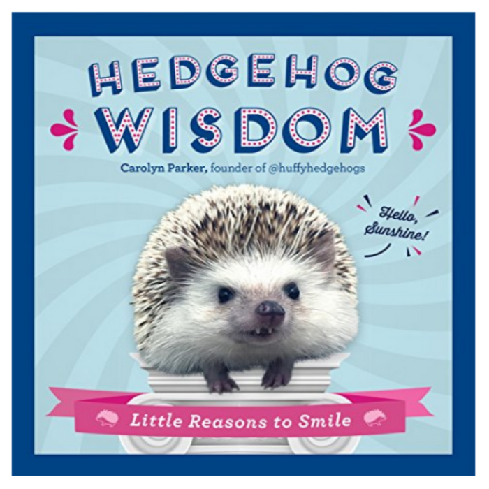 book cover with photo of a hedgehog on the front