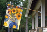 Afternoon Sunflowers Banner Flag