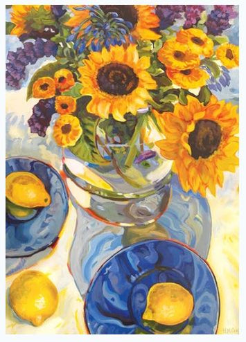 AFTERNOON SUNFLOWERS DECORATIVE FLAG