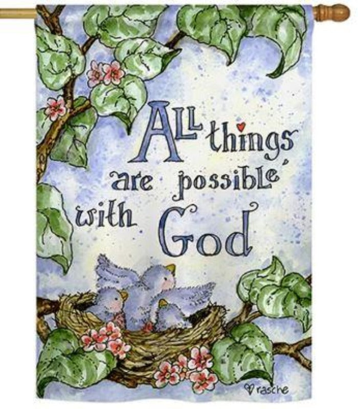 ALL THINGS ARE POSSIBLE WITH GOD BANNER FLAG